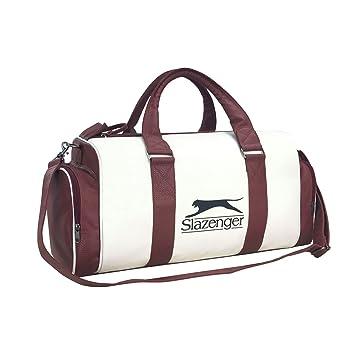 a02c147e172d Slazenger Unisex Retro Sports Bag White Brown  Amazon.co.uk  Clothing