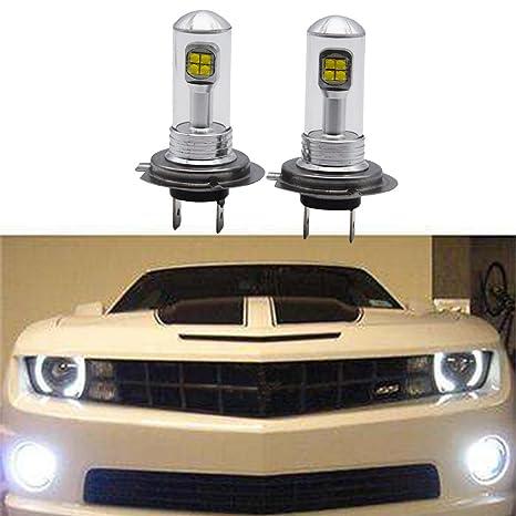 2x H7 6000K 80W de alta potencia CREE LED luz de conducción de niebla Canbus bombilla