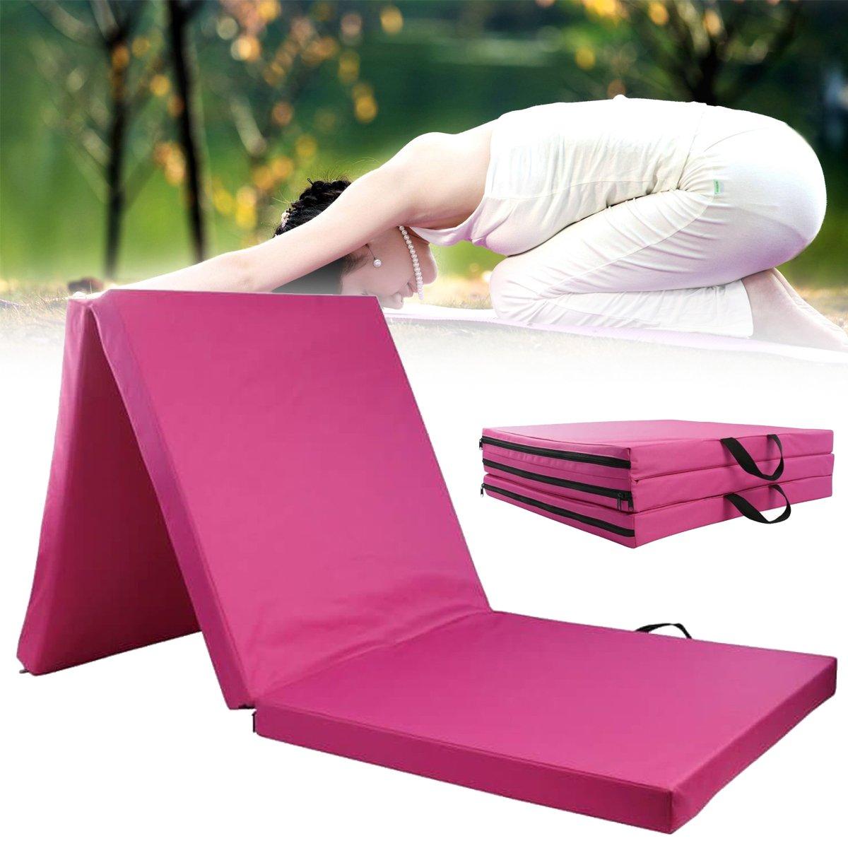 Plat Feste Gymnastikmatte 3 Faltbare Paneele Yogamatten Aerobic Training Tumbling Rolling Sport Schutzpolster