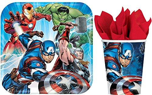 8 ct. Avengers Square Plates 9