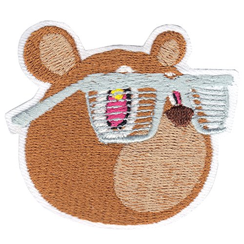 YZY Drop Out Bear Wearing Shades DIY Iron On Embroidered Applique - Wearing Shades