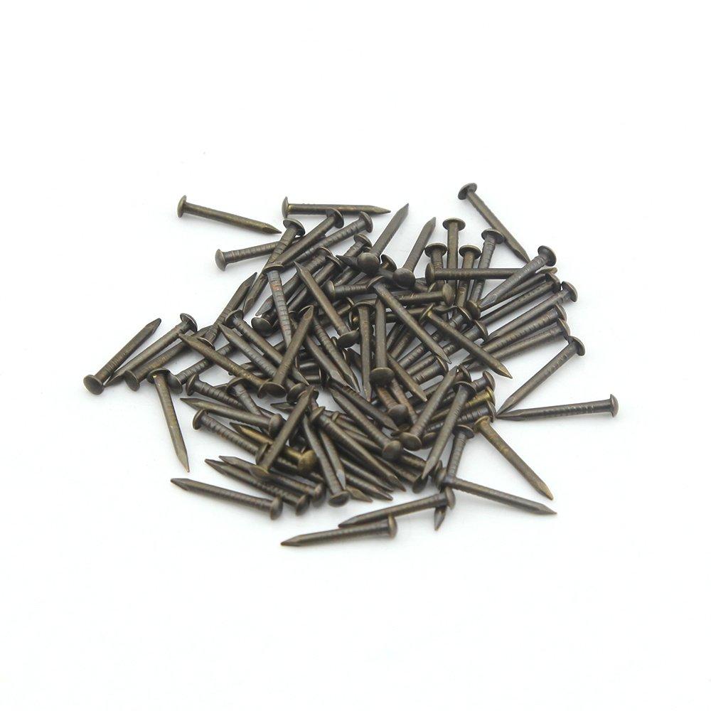 8 mm Wholesale Omyzon 200 pcs T/ête ronde en cuivre Dor/é en bois vernis /à ongles DIY D/écoration Bo/îtes Accessoires Dor/é 1,2