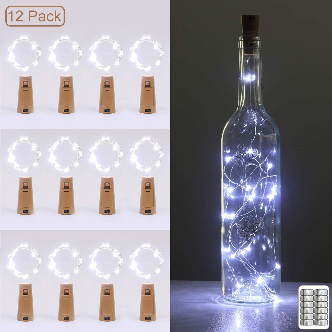 luz para botella de vino