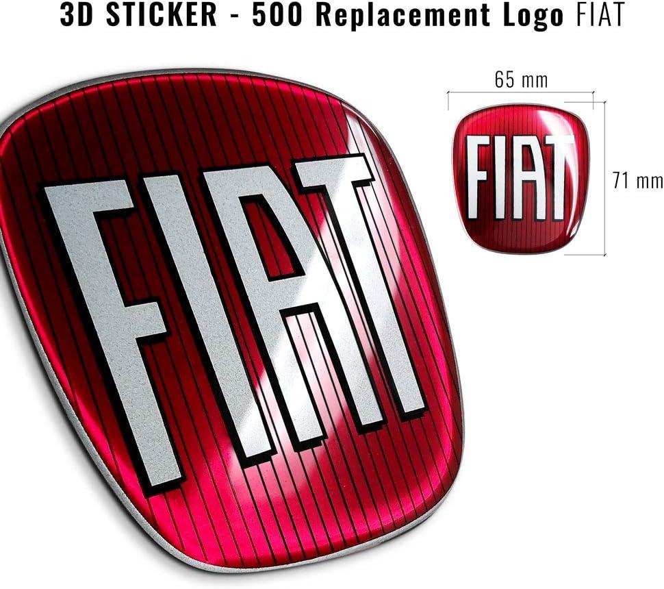AMS 14214 Autocollant de Rechange pour Fiat 3D Logo pour 500