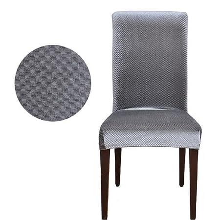 Lixinsunbu Stretch Pinstripe Short Dining Room Chair Cover Slipcovers Gray
