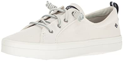 Sperry Womens Crest Vibe Wash Linen White Slippers Sperry Top-Sider QEr89in