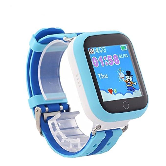 Teléfono inteligente reloj Q750 Early Learning Kids Reloj Inteligente WiFi GPS Localizador LBS Monitor reloj teléfono