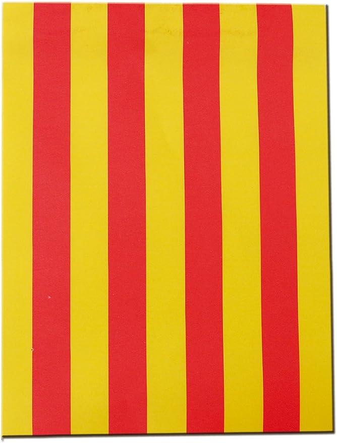 Verbetena - Bandera papel Senyera, 15x20 cm, bolsa 2x25 metros (011200042): Amazon.es: Juguetes y juegos
