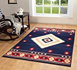 Furnish my Place Southwest Southwestern Modern Area Rug Rustic Lodge 640, Blue