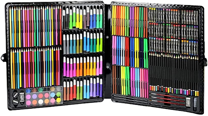Vobajf La inspiración Conjunto del Arte Graffiti Infantil Pintura Caja de Regalo Conjunto de Pincel de Acuarela Conjunto de lápiz Fuentes de Escuela de Arte Crayon 288 Conjunto Arte fijado: Amazon.es: Hogar
