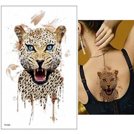 3 Piezas Etiqueta engomada del Tatuaje Caballo Lobo Zorro león ...
