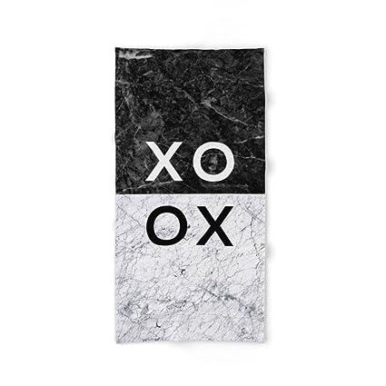 Society6 XO B & W mano y toalla de baño, multicolor, Toalla de baño
