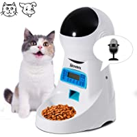 Homdox Automatic Pet Feeder Food Dispenser 4 Meal for Cat Dog Timer Programmable for Small Middle, Big Size Pet Cat Dog