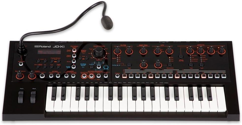 Roland JD-XI 37-Key Interactive Analog/Digital Crossover Synthesizer, Black