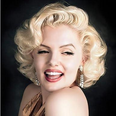 Huacang Kinder Perucke Marilyn Monroe Erwachsenen Kurzwelle Locken