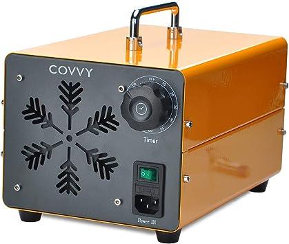 COVVY Generador de ozono comercial, máquina móvil industrial del ozono O3 purificador de aire ambientador esterilizador para la eliminación de olores, para casa, oficina, hotel, coche(Giallo,15000mg): Amazon.es: Bricolaje y herramientas