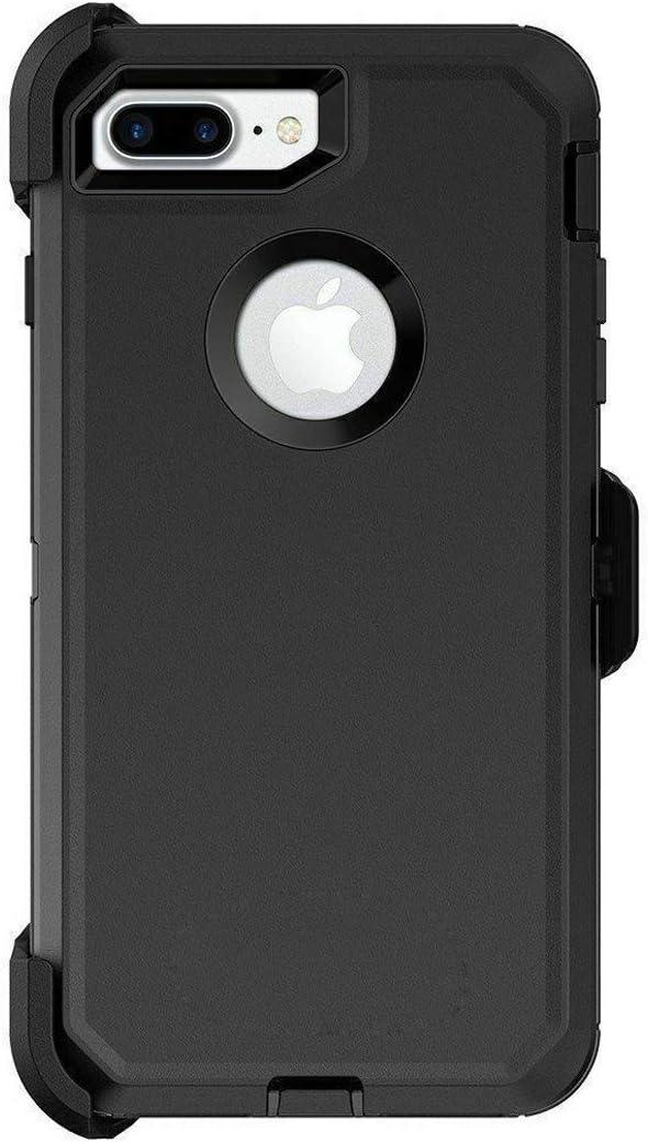 Defender Series Case for iPhone 8 Plus Defender Case Triple Layer Defense for iPhone 7 Plus Case Defender Belt Clip Holster Defender Black for iPhone 7 Plus & iPhone 8 Plus Case