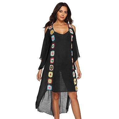 e3bc50494620e Women Ladies Beach Bikini Swimsuit Cover Ups Mingfa Summer Stylish Ethnic  Loose Tassel Swimwear Beachwear Dress Smock: Amazon.co.uk: Clothing