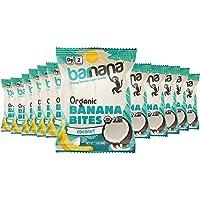 Barnana Organic Chewy Banana Bites, Coconut Banana Flavor 1.4 Ounce Bags (12 Bags Total) - Non-GMO, USDA Organic…