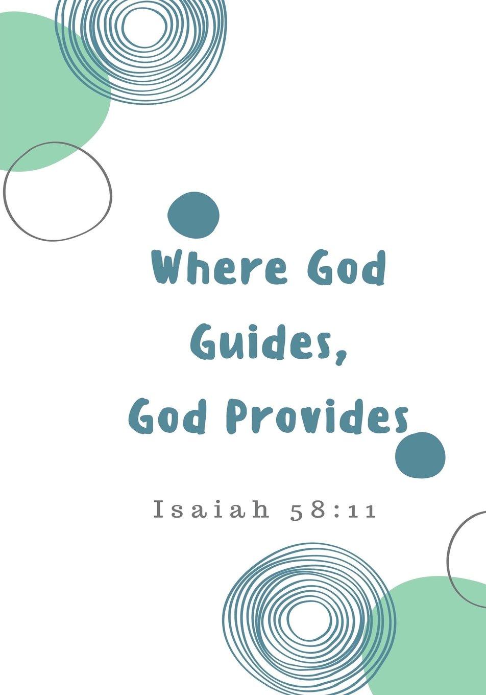 Read Online Where God Guides, God Provides: Prayer Journal, Notebook With Prompts, 7x10 (Elite Prayer Journal) ebook