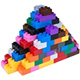 Premium Big Briks 12 Color Basic Builder Set #3 - 204 Piece Building Brick Set - Compatible with All Major Large Size Brands – Large Pegs Only