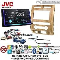 Volunteer Audio JVC KW-X830BTS Double Din Radio Install Kit with Bluetooth SiriusXM Ready Fits 2009-2010 Ford F-150 (Ash Satin)