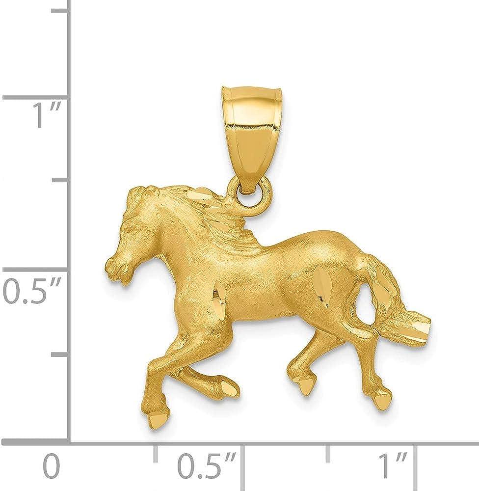 14K Yellow Gold Satin Shiny-Cut Sand Dollar Pendant