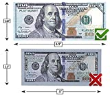 Prop toy money| 10,000$ |100 count of 100$ Dollar bills| Double-Sided Banded | Pretend play money | Fake real money | Great for money games with children |