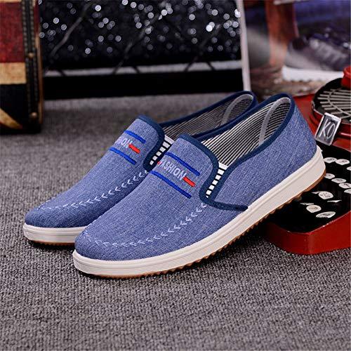 Old Azul Pumps Sole Slip Eu 42 Azul De Hombre Fuxitoggo color Claro Para Soft Tela Zapatos Espadrilles Beijing En Durable Tamaño xgOqT0vZTw