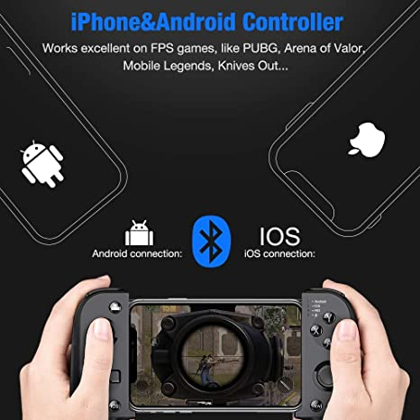 Mobile Controller, BEBONCOOl Mobile Game Controller for PUBG, Android Game  Controller for Android/iOS/iPhone, Wireless Remote Controller Gamepad,