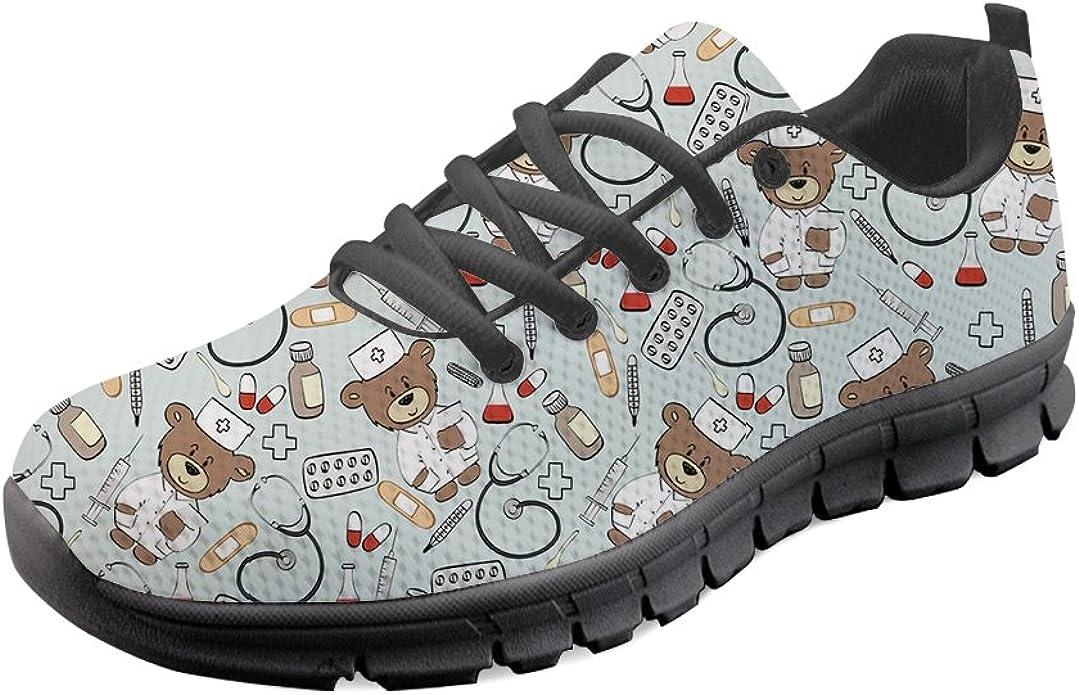 Nurse Sneakers White Custom Print Women/'s Running ShoesSneakersTrainers
