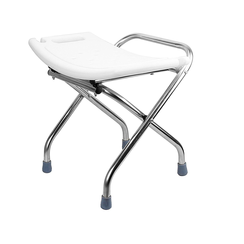 Stupendous Thebathmart Premium Heavy Duty Light Weight Folding Shower Chair Medical Bath Bench Bathtub Machost Co Dining Chair Design Ideas Machostcouk