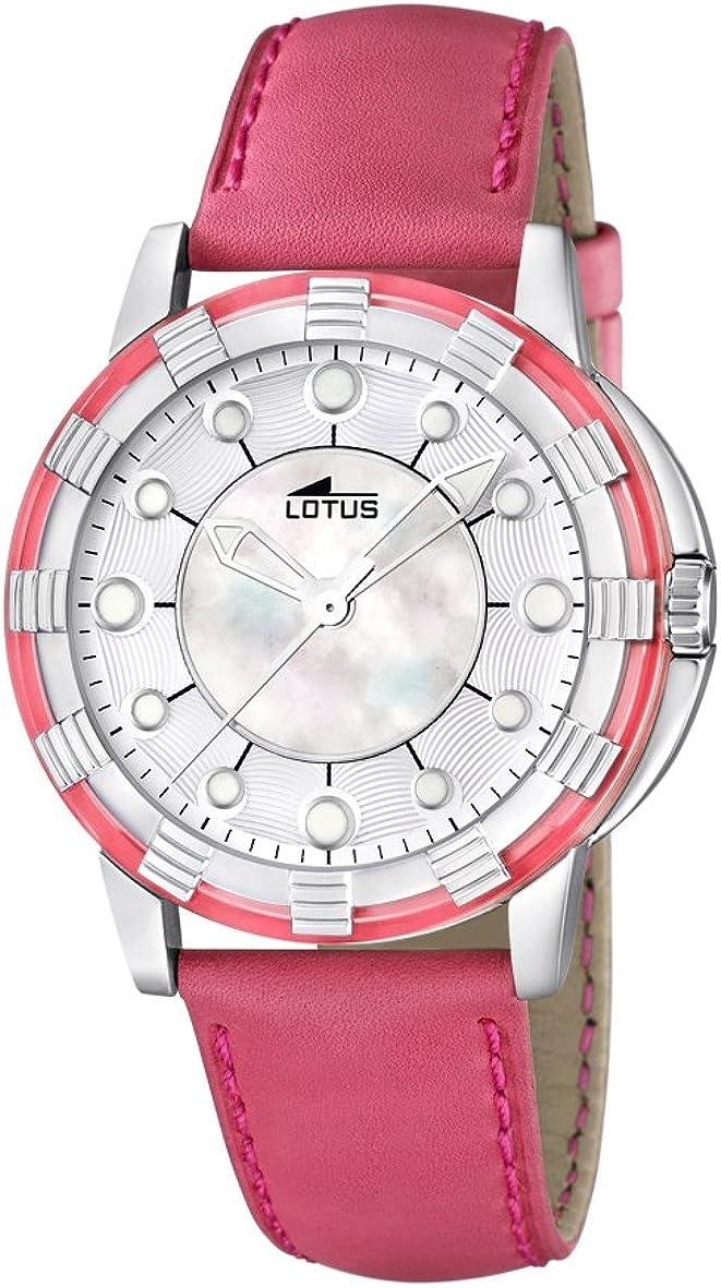 Lotus 15747/6 - Reloj analógico de Cuarzo para Mujer con Correa de Piel, Color Rosa