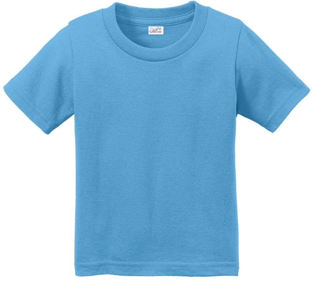Joe's USA(tm Toddler Tees Soft and Cozy Cotton T-Shirt Size-4T,Aquatic Blue