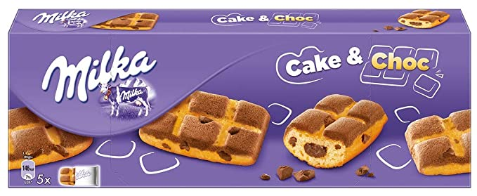 Galletas Milka Cake & Choc De Bizcocho Rellena De Chocolate 175gr