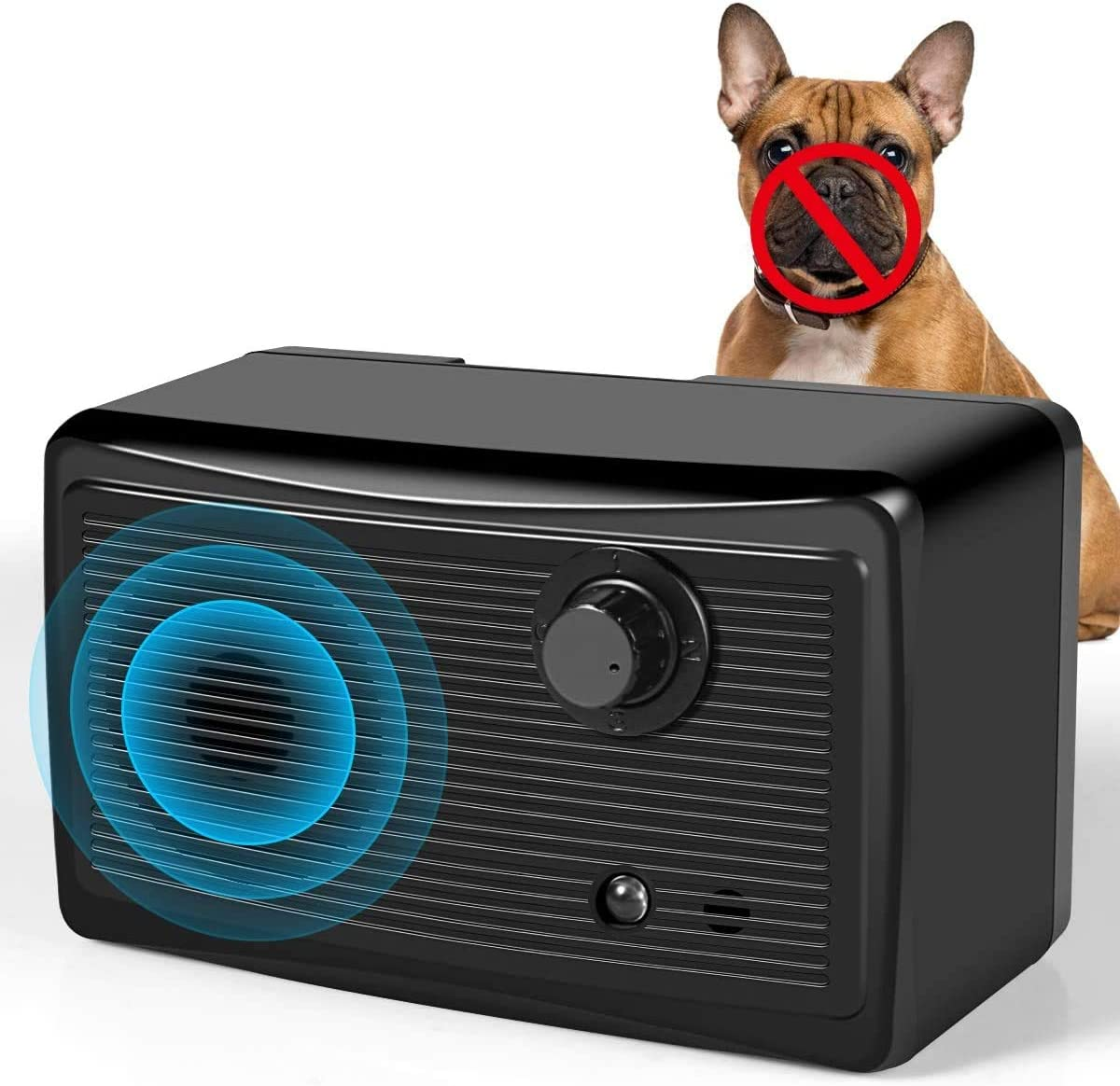 Upgraded Mini Sonic Bark Deterrents 3 Ultrasonic Frequency 30Khz 50 Ft Range Anti Bark Training Tool Barking Control Device