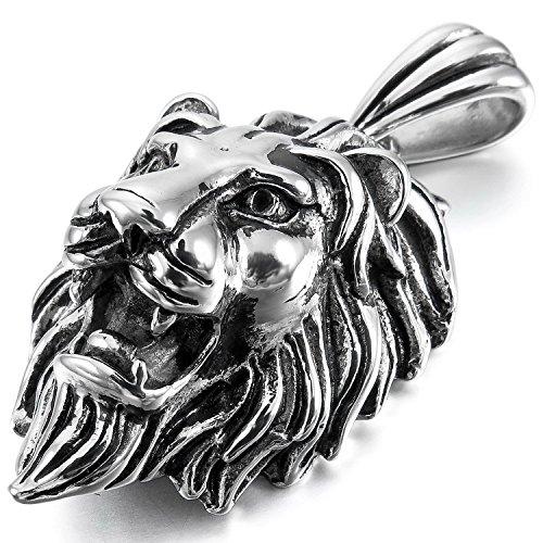 Letshopping® Lion Lionhead Titanium Steel Necklace Titanium
