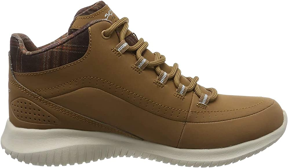 Skechers Damen Ultra Flex Hohe Sneaker, Braun (Brown 12918 j2iCa