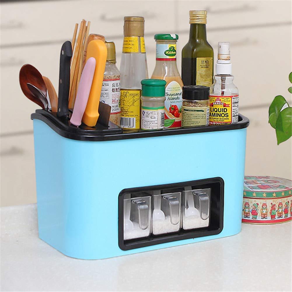 promocionales de incentivo azul BaRuXi Caja De Almacenamiento De Cocina Multifuncional Multifuncional Multifuncional De Home Kitchen, Contenedor De Almacenamiento De Condimentos, 33X18X20Cm, Adecuado para Cocinas Caseras, Restaurantes (1 Paquete),blanco  mejor moda