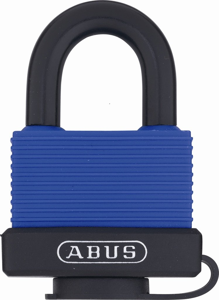 ABUS 70IB/50 KD Blue All Weather Solid Brass Boday with Weather Cover and Stainless Steel Shackle Keyed Different Padlock