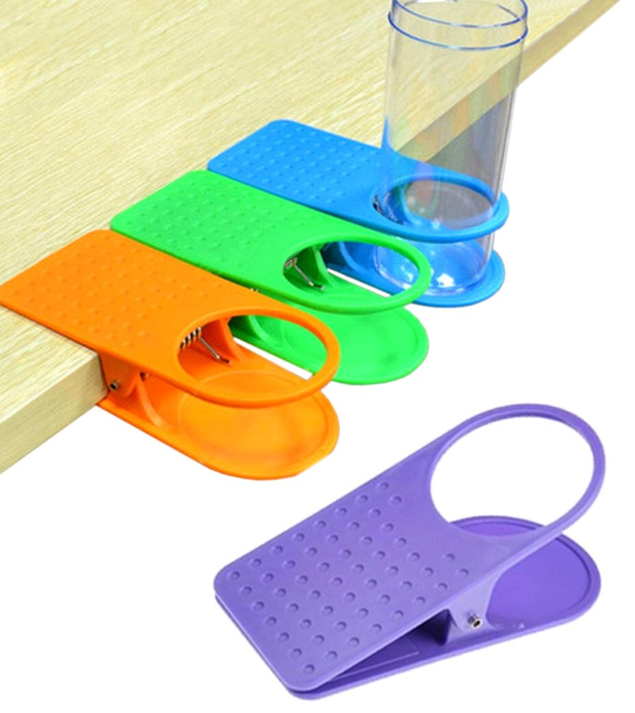 Amazon.com: Colorful Clip On Table Cup Holders   Set Of 4: Home U0026 Kitchen
