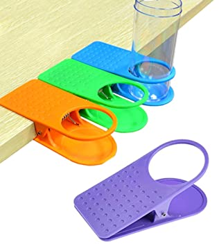 Colorful Clip On Table Cup Holders   Set Of 4