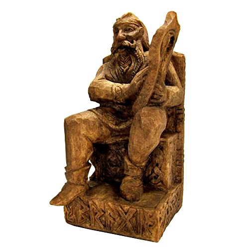 Dryad Design Seated Bragi Statue Norse God of Bards and Poetry