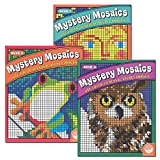 Mystery Mosaics, Books 1, 2, 3: Color to Reveal Hidden Pictures, Set of 3 Books