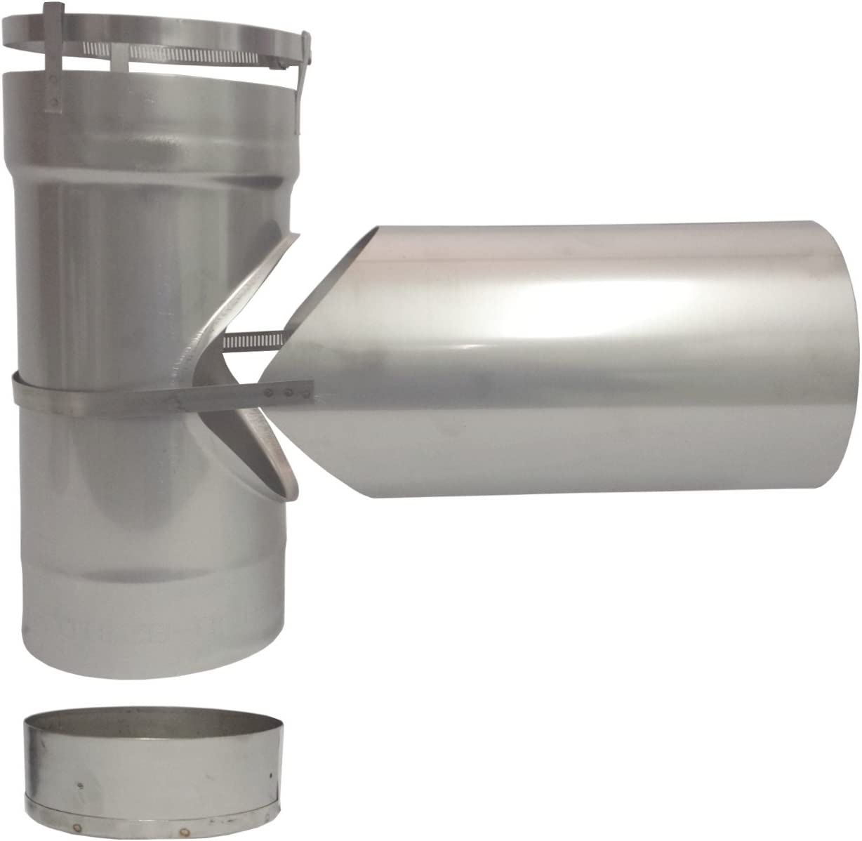 5 inch stove pipe Stainless Steel Clean Out Tee