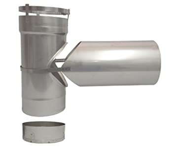 Image Unavailable Image Not Available For Color Rockford Chimney Supply Stainless Steel Chimney Tee Connector Rockflex 6 Inch