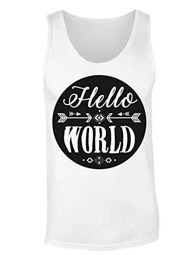 Hello World Hipster Design Camiseta sin mangas para mujer Shirt