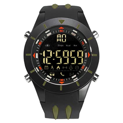 Amazon.com: Men Large Smartwatch for Apple Android Digital Police Military Watch: Watches