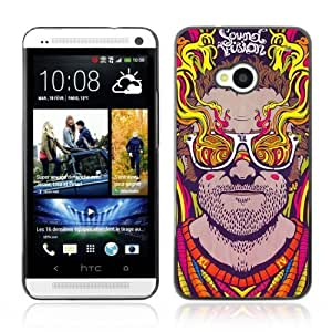 YOYOSHOP [Abstract Psychedelic Sunglasses] HTC One M7 Case
