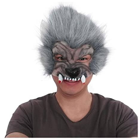 Máscara YN Cabeza del Lobo de los niños de Halloween Terror Devil Fancy Dress Party Adornos
